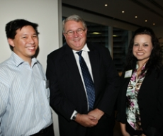 MBA students with Andrew Metcalfe