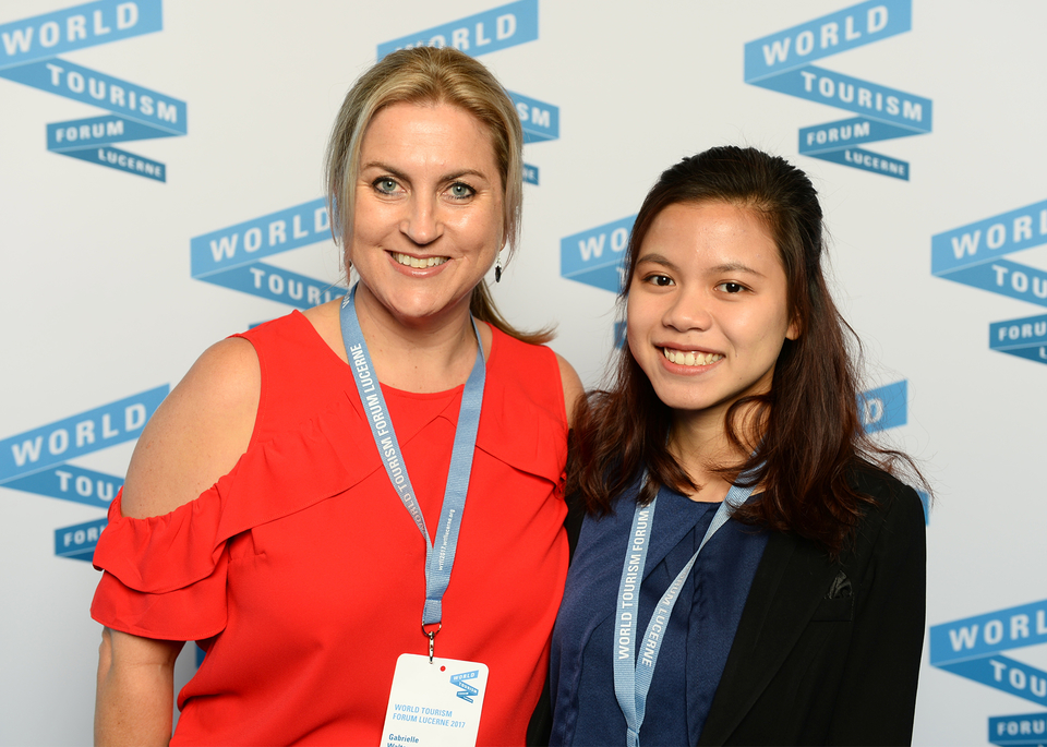 Dr Gabby Walters and student Wendy Pham at the WTFL Forum