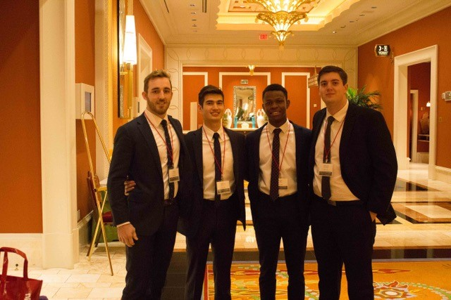 The four students who represented UQ at the ICSC Cornell Real Estate Competition
