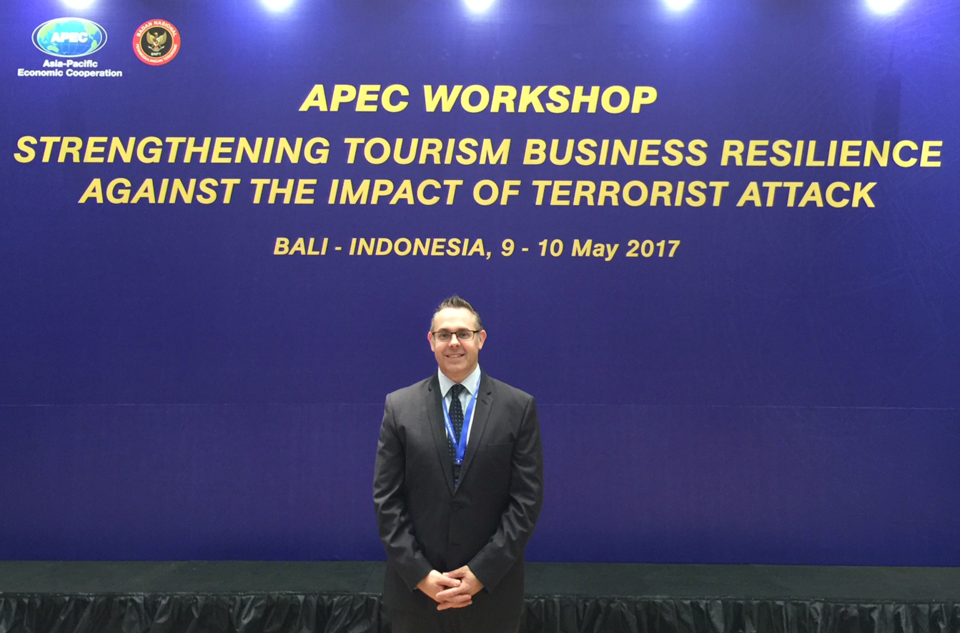 Professor Brent Ritchie at the APEC Workshop in Bali