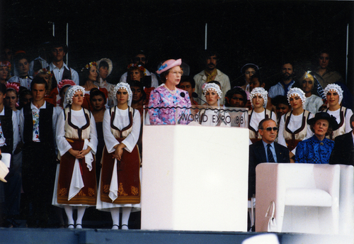 The queen opens Expo 88, a hastily conceived event that has had a lasting impact on Brisbane.