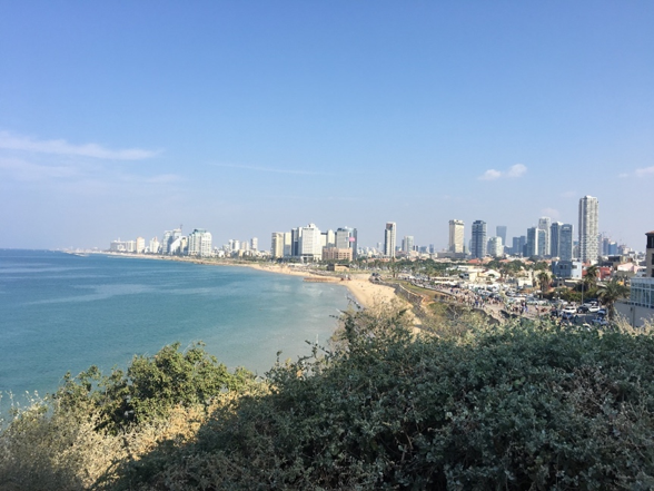 View of beaches and Tel Aviv city from HaMidron Garden - MBA Global Immersion Tour